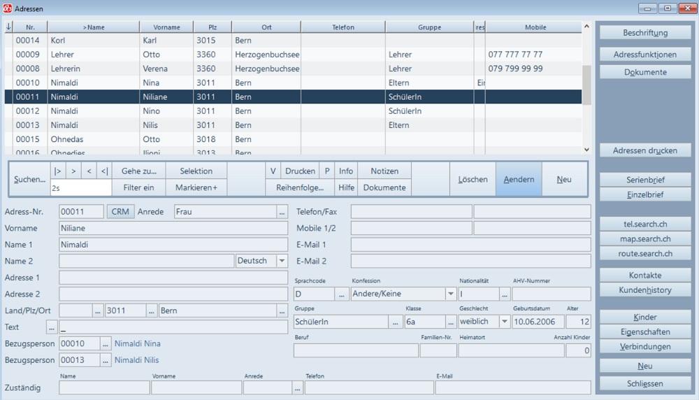 Q3 Software Schule-Adressverwaltung